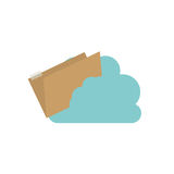 Isolated cloud computing design. File and cloud computing icon. Storage technology and virtual theme. Isolated design. Vector illustration Stock Image