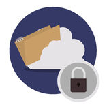 Isolated cloud computing design. File and cloud computing icon. Storage technology and virtual theme. Isolated design. Vector illustration Royalty Free Stock Image