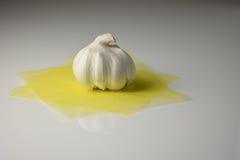 Isolated clove of garlic Stock Photos