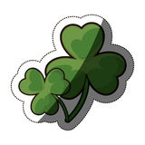 Isolated clover leaf design. Clover leaf icon. Luck plant spring celebration and fortune theme. Isolated design. Vector illustration royalty free illustration