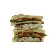 Isolated club sandwich Stock Photos