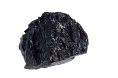 Isolated  coal, carbon nuggets Royalty Free Stock Images