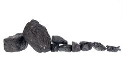 Isolated  coal, carbon nuggets Royalty Free Stock Photo