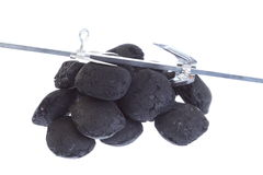 Isolated  coal, carbon nuggets Stock Photography