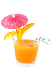 Isolated cocktail with mango juice Royalty Free Stock Photos