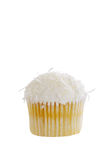 Isolated Coconut cupcake Royalty Free Stock Images