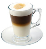 Isolated coffe with milk stock images