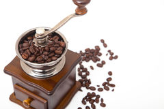 Isolated coffee bean grinder Royalty Free Stock Images