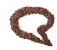 Isolated Coffee Bean Thought Bubble Royalty Free Stock Photography