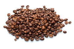 Isolated coffee beans royalty free stock image