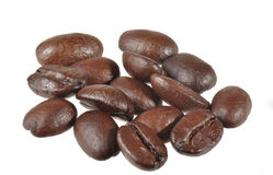 Isolated Coffee Beans Stock Image