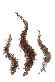 Isolated coffee beans Royalty Free Stock Photo