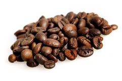 Isolated coffee beans Stock Photos