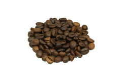 Isolated coffee beans on white background with clipping path Stock Photo