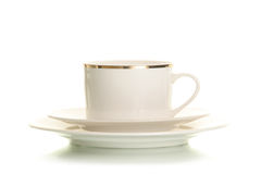 Isolated coffee cup. On white Stock Image