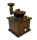 Isolated Coffee Grinder. Antique Coffee Grinder Royalty Free Stock Image