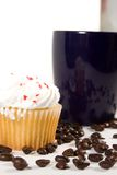 Isolated Coffee Mug with Cupcake Stock Images