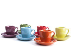 Isolated Coffee Mugs Stock Images