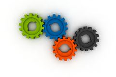 Isolated cogwheels Stock Photography