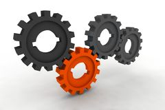 Isolated cogwheels. Business network - illustration stock illustration