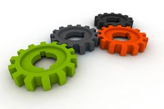 Isolated cogwheels Stock Image