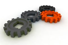 Isolated cogwheels Stock Images