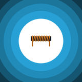Isolated Coil Copper Flat Icon. Bobbin Vector Element Can Be Used For Bobbin, Coil, Copper Design Concept. Bobbin Vector Element Can Be Used For Bobbin, Coil Stock Image