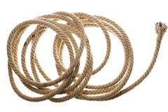 Isolated Coiled Rope Royalty Free Stock Photo