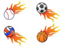 Color fire ball logo icons. Isolated color fire ball logo icons from white background Royalty Free Stock Photos