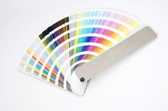 Isolated color guide - chart. Color guide - chart displayed over a white background royalty free stock images