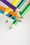 Isolated color pencils, white background Stock Photo