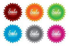 Isolated color sale label Royalty Free Stock Image