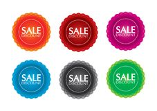 Isolated color sale label Stock Image