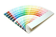 Isolated Color Scale Royalty Free Stock Image