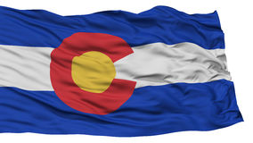Isolated Colorado Flag, USA state Royalty Free Stock Photography