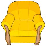 Isolated colored armchair Royalty Free Stock Photo