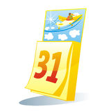 Isolated colored calendar royalty free illustration
