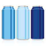 Isolated colored cans Royalty Free Stock Images