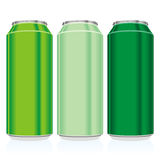 Isolated colored cans Stock Photos