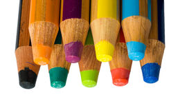 Isolated colored crayons Royalty Free Stock Images
