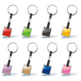 Isolated colored key chain set Royalty Free Stock Photography