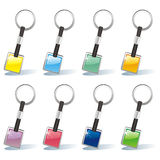 Isolated colored key chain set Royalty Free Stock Photo