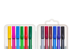 Isolated colored markers in the package Royalty Free Stock Images