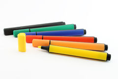 Isolated Colored markers Stock Photos
