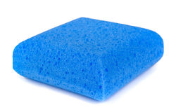 Isolated colored sponges royalty free stock image