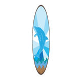 Isolated colored surfboard Royalty Free Stock Photos