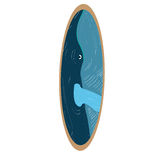 Isolated colored surfboard Royalty Free Stock Photo