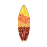 Isolated colored surfboard Stock Photography