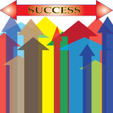 Isolated Colorful Arrow Upward Success Point Royalty Free Stock Photos
