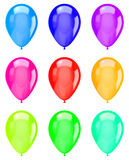 Isolated Colorful Balloons Collection stock illustration